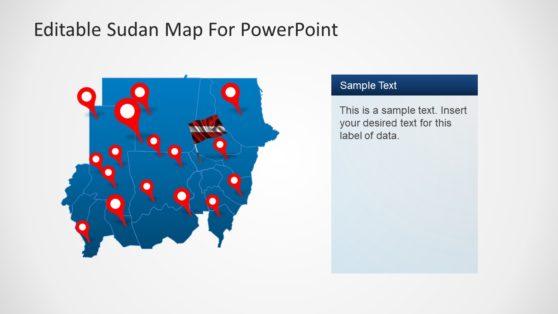 North Sudan Map Templates