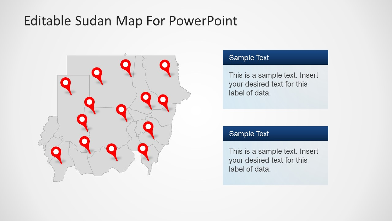 Sudan State Map PowerPoint