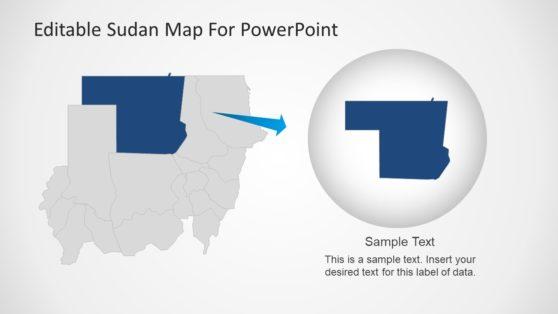 Sudan Customizable Maps PowerPoint
