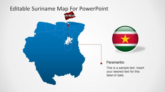 Capital City Flag Pointer for Suriname