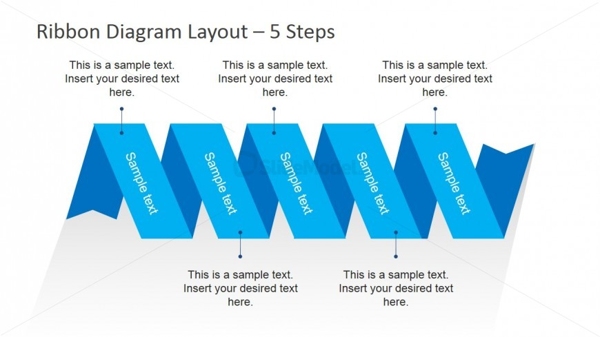 Simple Horizontal Ribbon Diagram Layout for PowerPoint