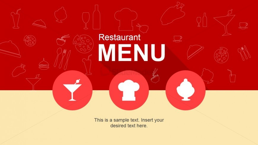 Cool restaurant menu powerpoint template slidemodel cool restaurant menu powerpoint template toneelgroepblik Gallery