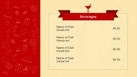 Beverages Menu PowerPoint Template