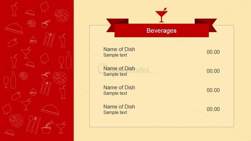 beverages menu powerpoint template  slidemodel, Powerpoint