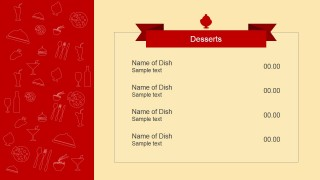 Dessert Menu PowerPoint Slide
