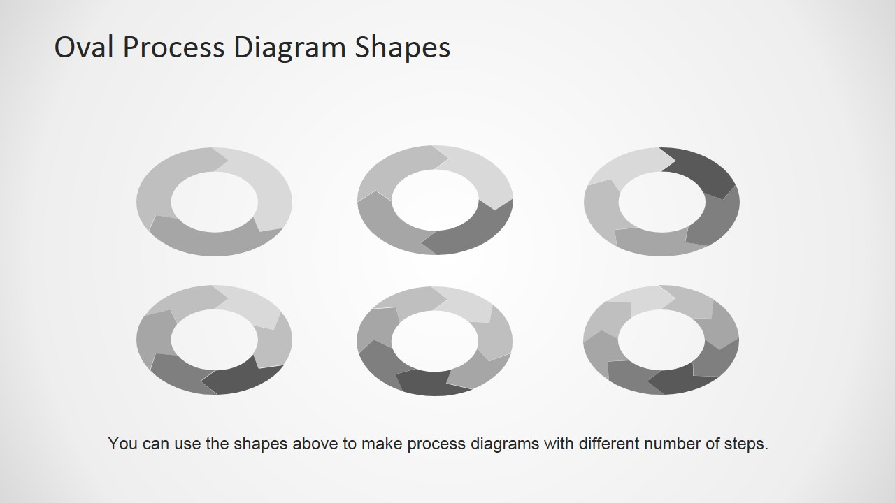 4 Step Oval Process Diagram Template For Powerpoint