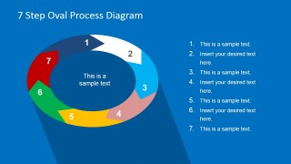 7 Steps Oval Diagram Template for PowerPoint