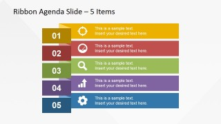 Narrow Ribbon Design for Presentation Agenda Slides