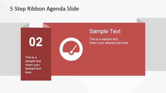 02 Ribbon Slide Design for PowerPoint
