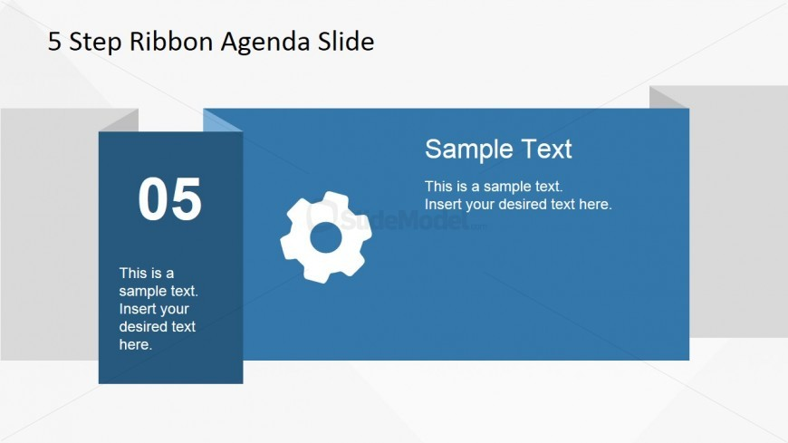 05 Ribbon Slide Design for PowerPoint