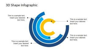 PowerPoint Flat Design Concentric Circles Diagram