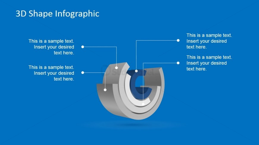PowerPoint Diagram Layered with Four Cylinders