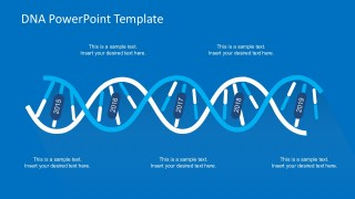 DNA Strands Blue-White Template Vectors