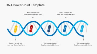 Timeline DNA Strands Concept PowerPoint Slides