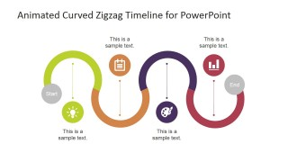 PowerPoint Curved Timeline with Icons