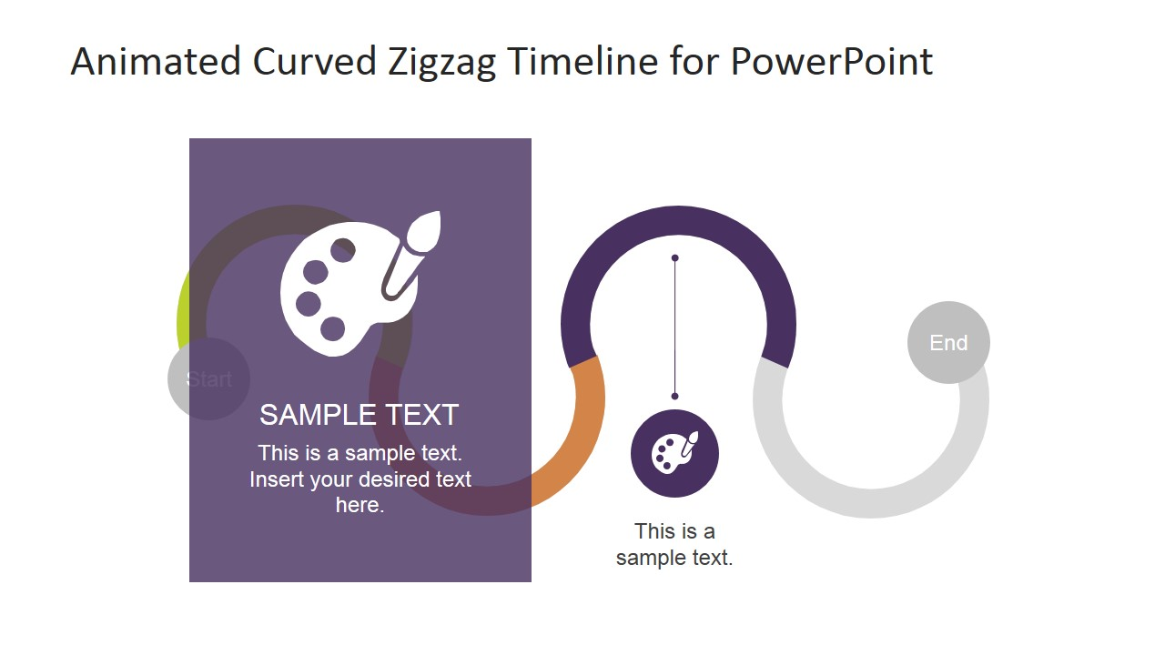 PowerPoint Flat Design Highlighted Third Stage Timeline