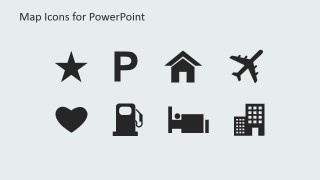 PowerPoint City Map Clipart Icons