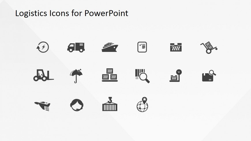 Professional Flat Logistics Clipart Icons