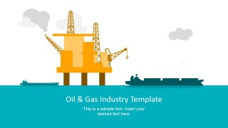 PowerPoint Slide with Oil Drilling Platform