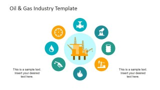 PowerPoint Clipart of Oil and Gas Industry Value Chain