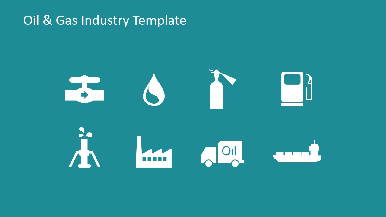 Oil gas industry powerpoint template slidemodel powerpoint icons flat design toneelgroepblik Gallery
