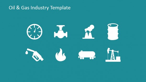 Oil and Gas Clipart in Flat Design