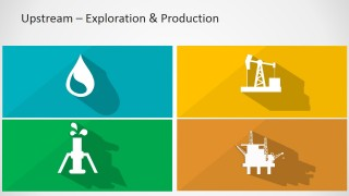 PowerPoint Icons Longshadow of Upstream Oil and Gas Sector