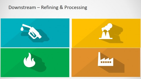 Downstream Sector PowerPoint Icons Design