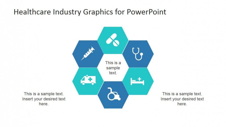 PowerPoint Health Care Icons in Hexagonal Background