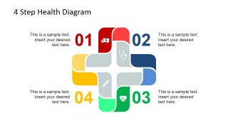Healthcare Cross with Numbers from One to Four