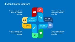 Colorful Healthcare 4 Steps Diagram