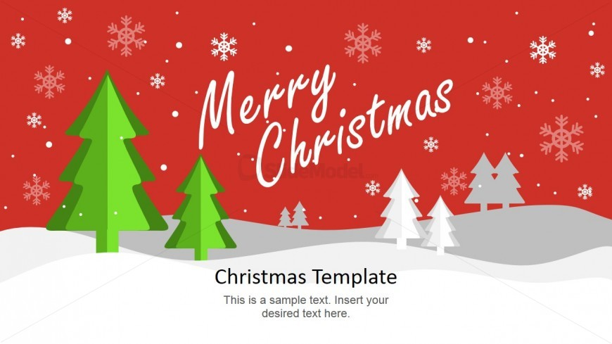 merry christmas card design slide slidemodel