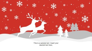 PowerPoint Christmas Background with Snow and Reindeer