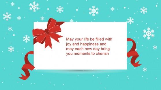Christmas Joy Happiness Slide Design