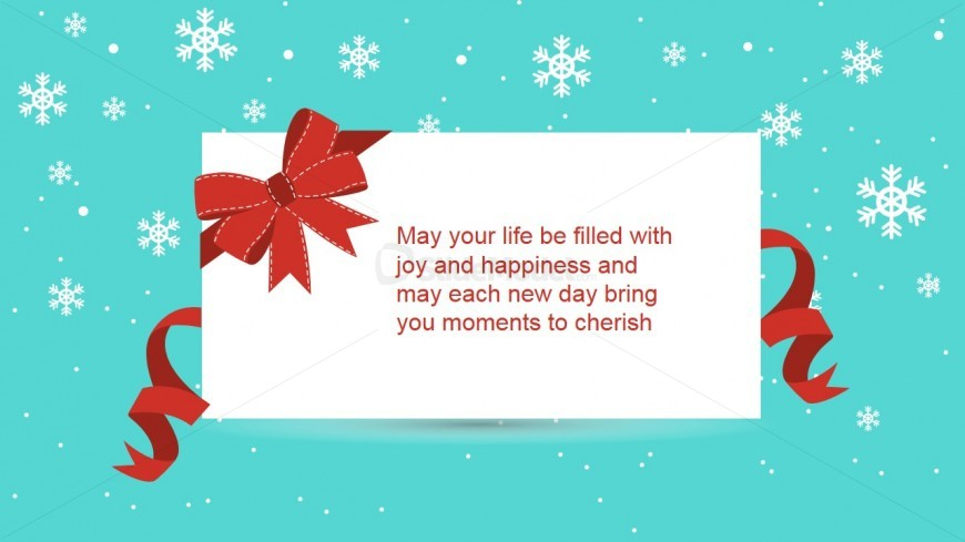 PowerPoint Christmas Message of Joy and Happiness