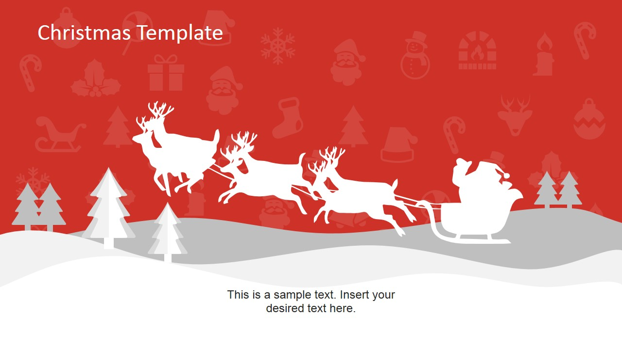 christmas powerpoint template slidemodel