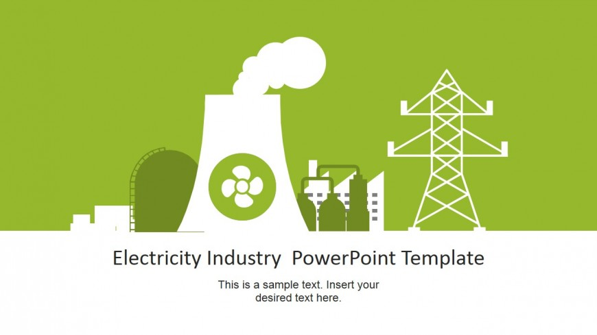 Vector Graphic for Electricity Industry PowerPoint