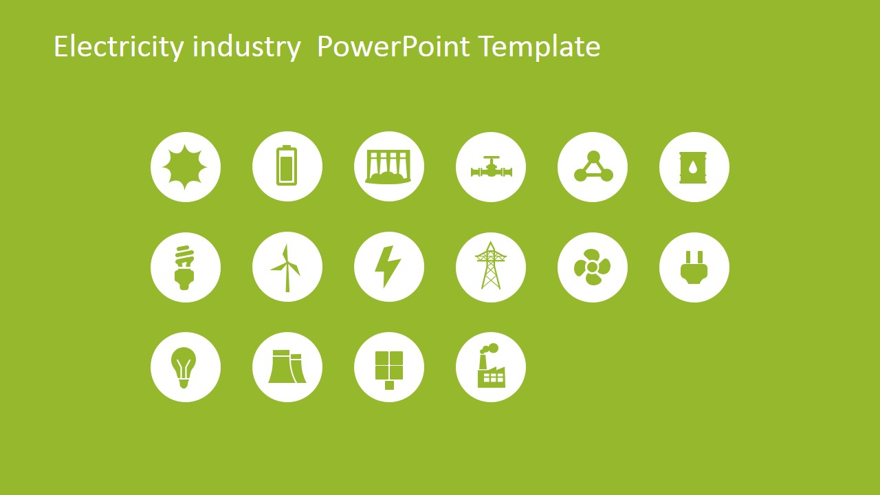 electricity industry powerpoint template - slidemodel, Presentation templates