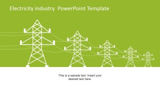 Power Line Towers Clipart for PowerPoint
