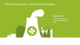 Nuclear Power Plant Vector for Electricity Industry PowerPoint