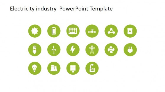PowerPoint Icons Featuring Electricity Scenes