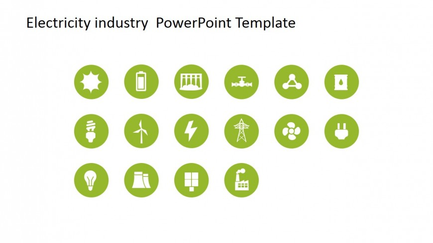 Vector Clipart for Electricity Industry