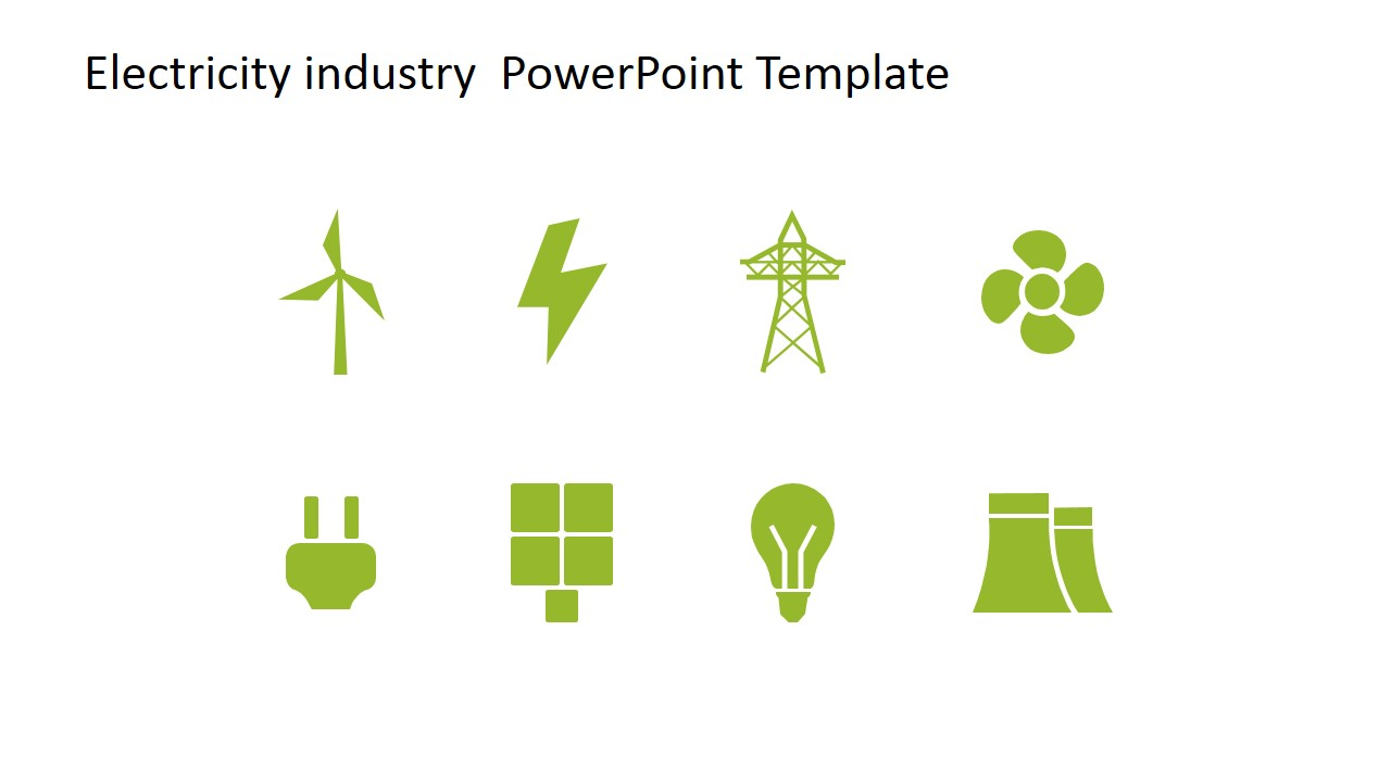 Electricity industry powerpoint template slidemodel powerpoint icons featuring energy clipart designs for electric energy generation toneelgroepblik Gallery