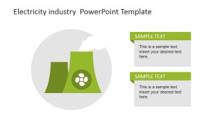 Nuclear Plant Clipart theme Slide Design