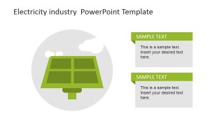 Photovoltaic Solar Panel Icon for PowerPoint