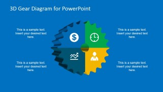 3D Gear Clipart Design for PowerPoint