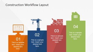 Construction Industry 4 Step Workflow Model