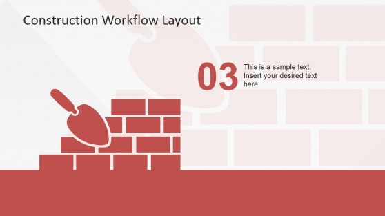 Wall Bricks and Trowel Clipart PowerPoint Design