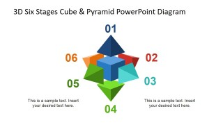 PowerPoint Diagram Six Steps Cubes and Pyramids