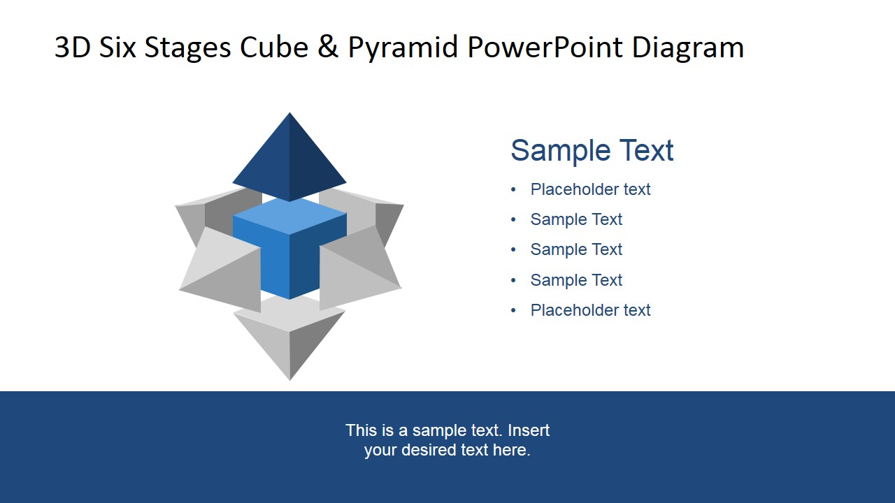 Six Stages PowerPoint Diagram Top 3D Pyramid